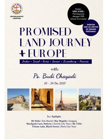 PROMISED LAND JOURNEY + EUROPE