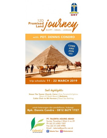 PROMISED LAND JOURNEY EGYPT - ISRAEL - JORDAN 12 D 2019