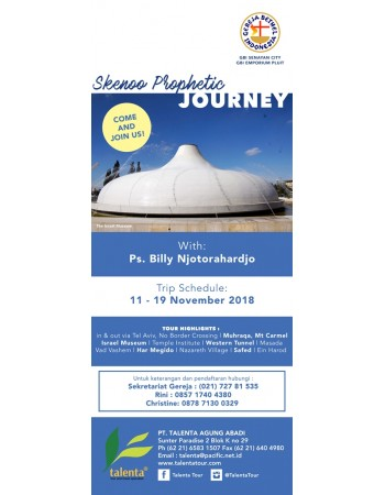 SKENOO PROPETHIC JOURNEY 11 - 19 NOV 2018